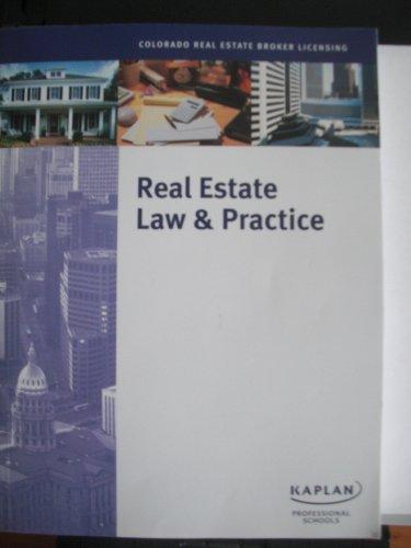9781427706393: Real Estate Law & Practice (Colorado Real Estate Broker Licensing)