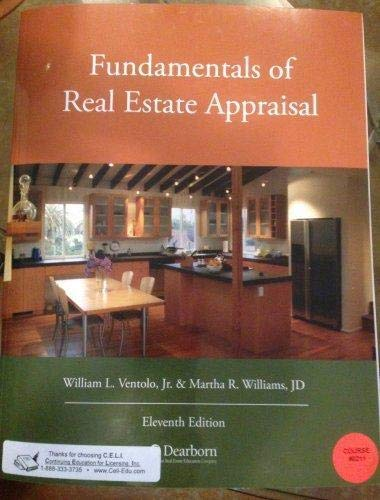 Fundamentals of Real Estate Appraisal: Ventolo, William L.,