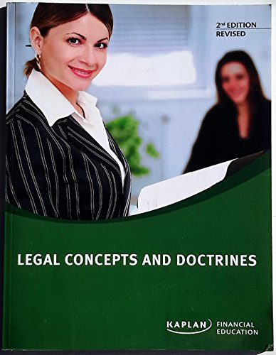 9781427721440: Legal Concepts and Doctrines (KAPLAN Financial Education)