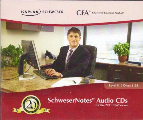9781427728869: SchweserNotes Audio CDs for the 2011 CFA Exam Level 2