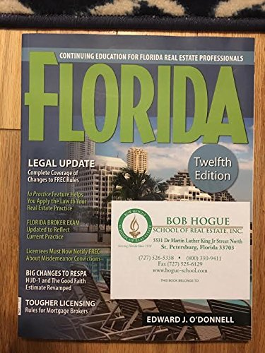 9781427734136: Florida Continuing Education for Florida Real Estate Professionals (Twelfth Edition)