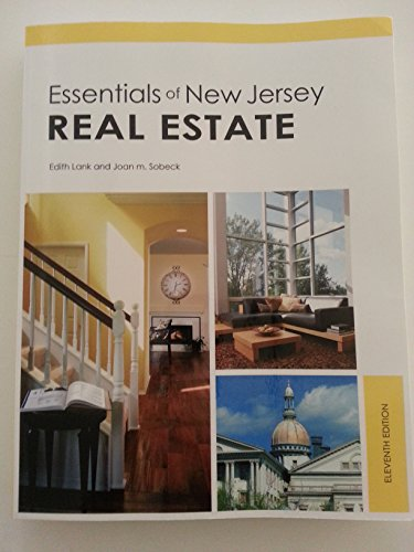 Essentials of New Jersey Real Estate, 11th Edition: Edith Lank and Joan M Sobeck