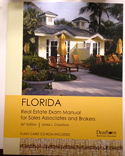9781427743725: Florida Real Estate Exam Manual for Sales Associates and Brokers 36th Edition By Linda L. Crawford