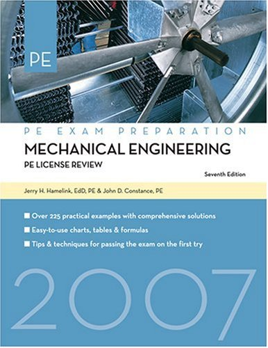 9781427751652: Mechanical Engineering: PE License Review, 7th Edition (Mechanical Engineering: License Review)