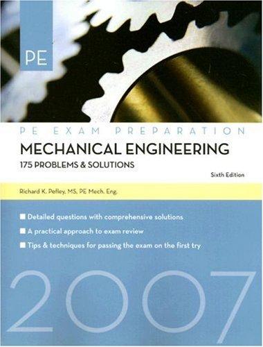 9781427751669: Mechanical Engineering: 175 Problems & Solutions (Pe Exam Preparation)