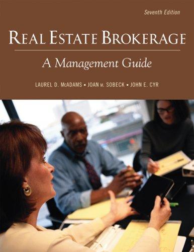 9781427766403: Real Estate Brokerage (Real Estate Brokerage: A Management Guide)