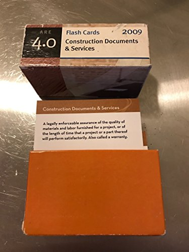9781427770639: Flash Cards Construction Documents & Services ARE 4.0