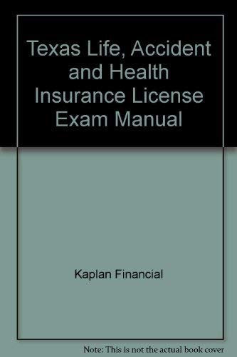 9781427782977: Texas Life, Accident & Health Insurance License Exam Manual