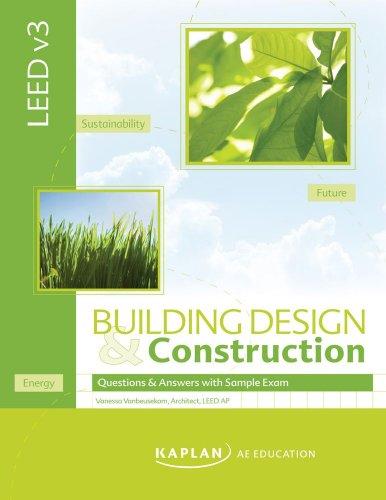 9781427792433: LEED v3 Building Design & Construction Q & A Book w/ Sample Exam