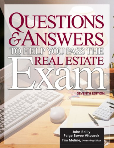 9781427795342: Questions & Answers to Help You Pass the Real Estate Exam