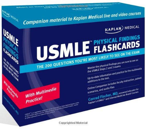 9781427795717: Kaplan Medical USMLE Physical Findings Flashcards: The 200 Questions You're Most: For Steps 2 & 3