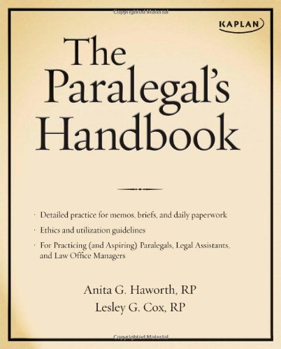 9781427797056: The Paralegal's Handbook: A Complete Reference for All Your Daily Tasks