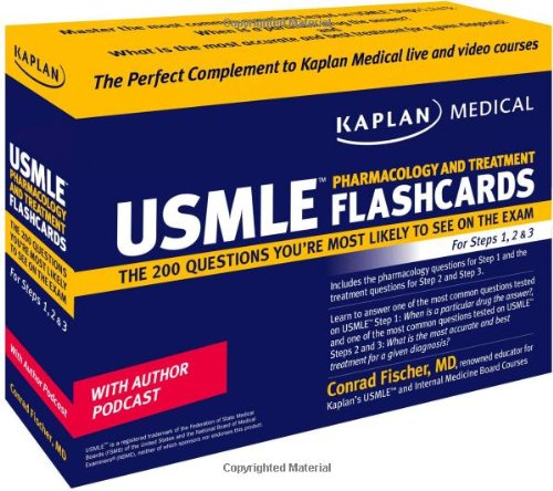 9781427797063: Kaplan Medical USMLE Pharmacology and Treatment Flashcards: The 200 Questions You're Most Likely to See on the Exam For Steps 1, 2 & 3