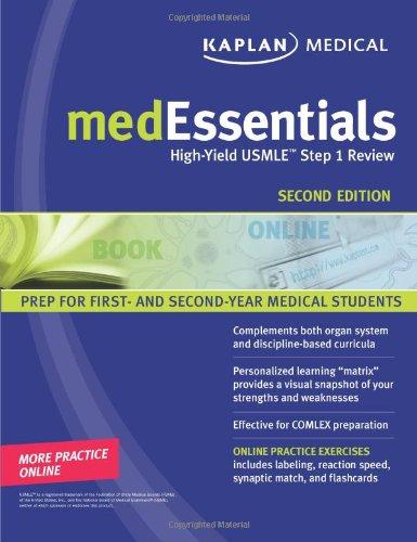 9781427797162: medEssentials: High-Yield USMLE Step 1 Review (Kaplan Medessenitals for the USMLE Step 1)