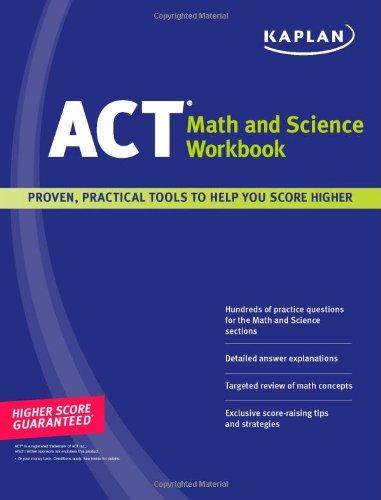 9781427797704: Kaplan ACT Math and Science Workbook