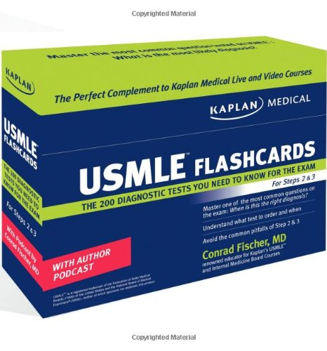 9781427798466: Kaplan Medical USMLE Diagnostic Test Flashcards: The 200 Diagnostic Test Questions You Need to Know for the Exam for Steps 2 & 3
