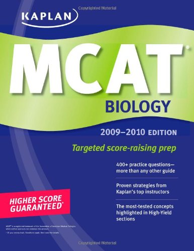 9781427798725: Kaplan MCAT Biology 2009-2010 (Kaplan Mcat Biology Review)