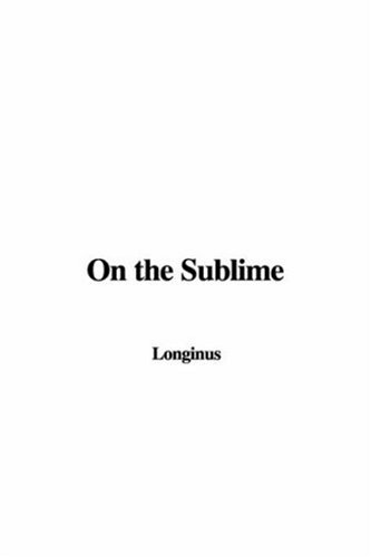 9781428016316: On the Sublime