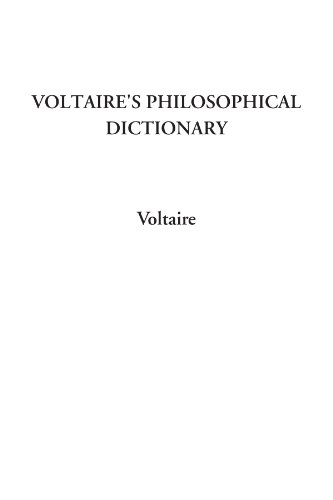 9781428040441: Voltaire's Philosophical Dictionary