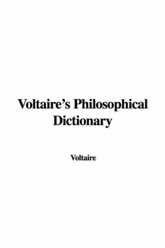 9781428040458: Voltaire's Philosophical Dictionary