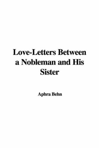 9781428071322: Love-Letters Between a Nobleman and His Sister