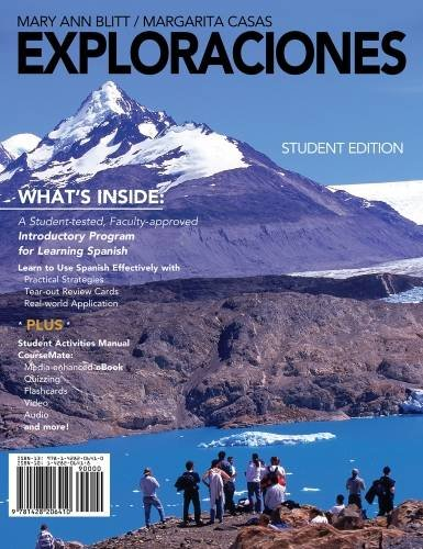 9781428206410: Exploraciones (with Student Activities Manual and Spanish CourseMate Printed Access Card) (World Languages)
