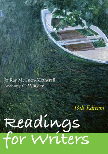 9781428231283: Readings for Writers