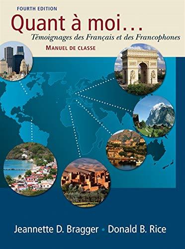 9781428231320: Quant a moi...: Temoignages des Français et des Francophones (with Audio CD)