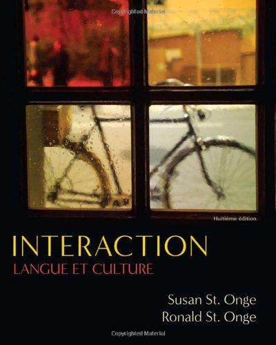 Interaction: Langue et culture: Susan St. Onge,