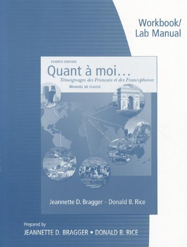9781428231375: Workbook and Lab Manual for Bragger/Rice's Quant a moi...