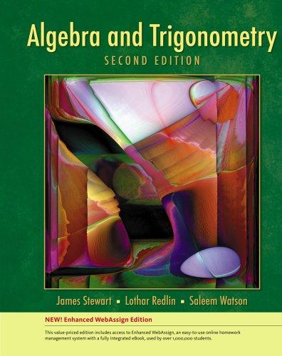 Bundle: Algebra and Trigonometry, Enhnaced Edition, 2nd + Enhanced WebAssign Homework and eBook ...