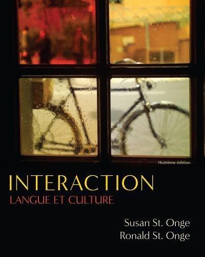 Interaction : Langue Et Culture: Ronald St. Onge