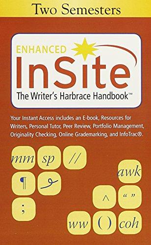 Insite the Writer's Harbrace Handbook Two Semesters Access Card: Insite