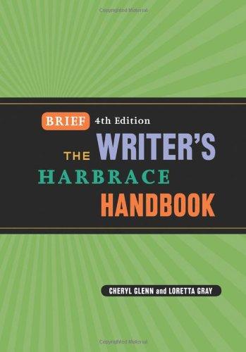 9781428291898: The Writer's Harbrace Handbook, Brief Edition