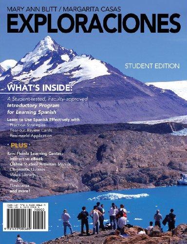 9781428292598: Student Activities Manual for Blitt/Casas' Exploraciones