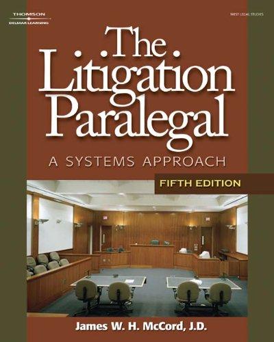 9781428314757: Bundle: Litigation Paralegal: A Systems Approach, 5th + Paralegal Online Courses - Civil Litigation on Bb