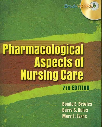 9781428315181: Pharmacological Aspects of Nursing Care