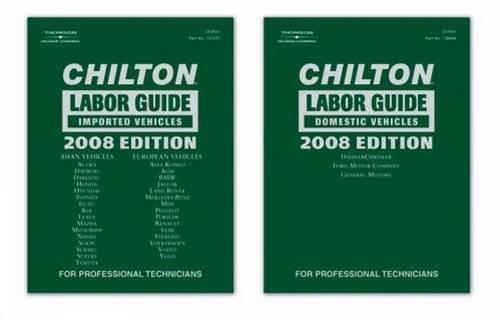9781428320352: Chilton Labor Guide 2008 Edition: Domestic & Import Set (CHILTON LABOR GUIDE MANUAL)