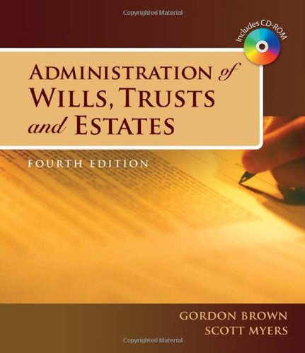 9781428321762: Administration of Wills, Trusts, and Estates