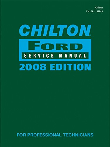 9781428322080: Chilton Ford Service Manual, 2008 Edition (2 Volume Set)