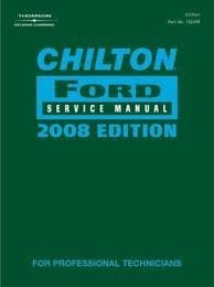 9781428322103: Chilton Ford Service Manual 2008 Edition Volume II Expedition, Five Hundred, Focus, Freestar, Freest
