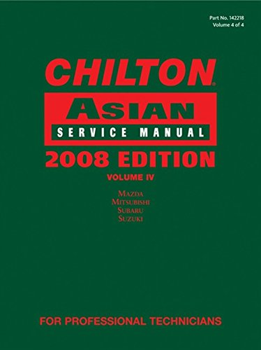 9781428322189: Chilton Asian Service Manual 2008, Vol. 4
