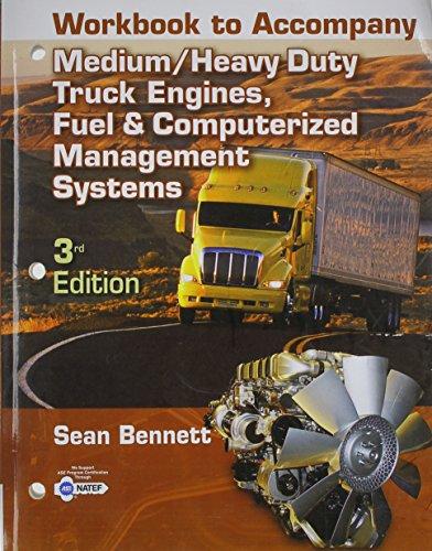 9781428366619: Workbook for Bennett's Medium/Heavy Duty Truck Engines, fule, Computer Management
