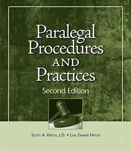 9781428376304: Paralegal Procedures and Practices