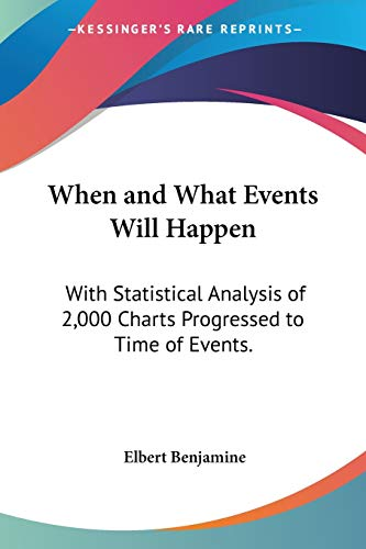 9781428624160: When and What Events Will Happen: With Statistical Analysis of 2,000 Charts Progressed to Time of Events.