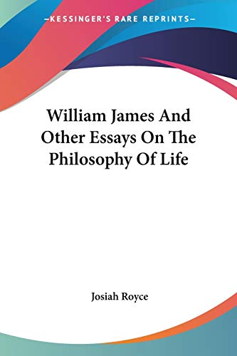 9781428637849: William James And Other Essays On The Philosophy Of Life