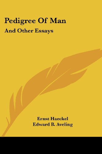 9781428644687: Pedigree Of Man: And Other Essays