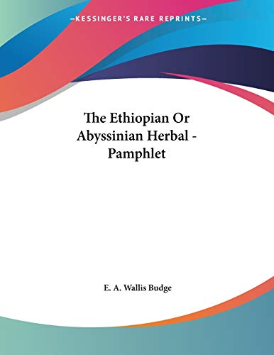 9781428675834: The Ethiopian Or Abyssinian Herbal - Pamphlet