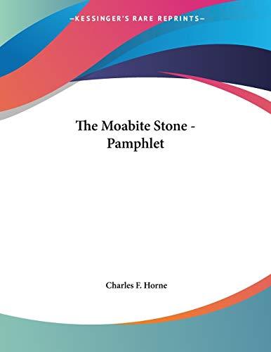 The Moabite Stone - Pamphlet