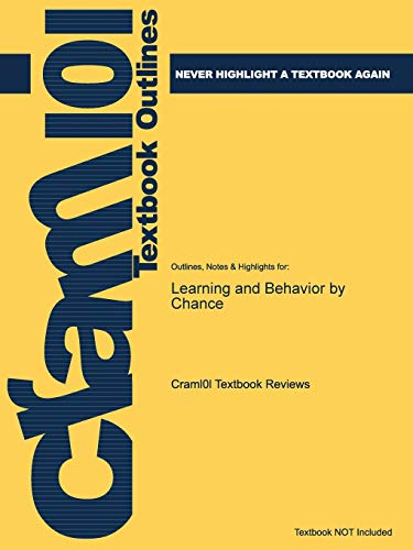 9781428800298: Outlines & Highlights for Learning and Behavior by Chance (Cram101 Textbook Outlines)